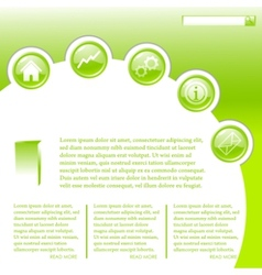 website business template in green vector image vector image