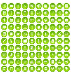 100 company icons set green circle vector
