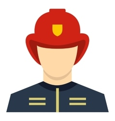 Fireman icon flat style vector