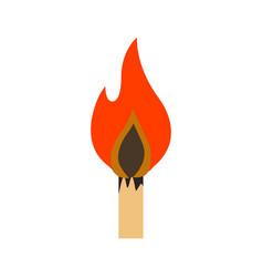 lit matchstick vector image