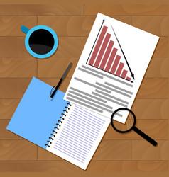 economic research financial presentation vector image
