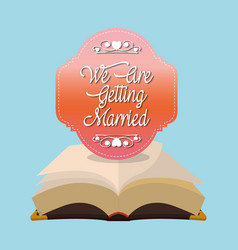 We are greeting married bible card vector