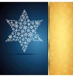 Christmas star snowflake design background vector