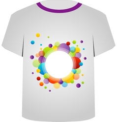 T shirt template- colorful circles vector