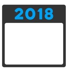2018 Organizer Icon vector image
