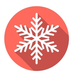 Flat colored simple winter snowflakes vector