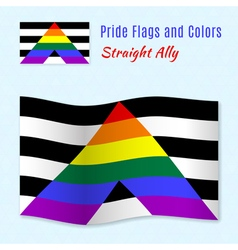 Straight allies pride flag with correct color vector