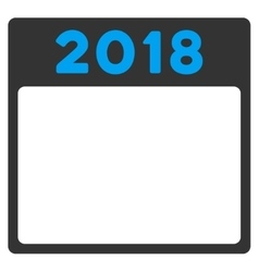 2018 organizer icon vector