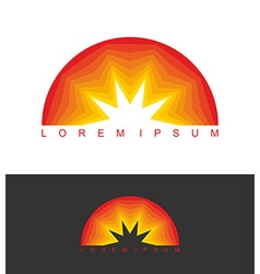 Sunrise logo dawn emblem business template logo vector