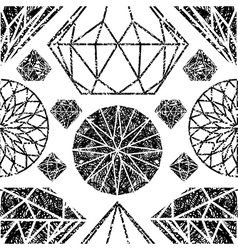 diamonds seamless grunge 04 vector image