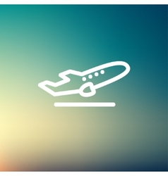 Airplane takeoff thin line icon vector image vector image