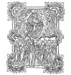 antique engraving vector image