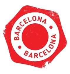 Barcelona stamp rubber grunge vector image