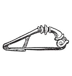 Brooch have triangle vintage engraving vector