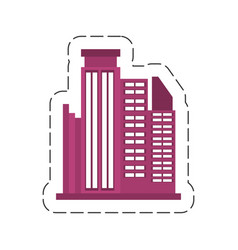 Cartoon building business trendy vector