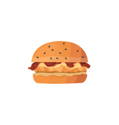 Cartoon of chicken burger vector