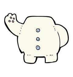 Comic cartoon polar bear body mix and match comic vector