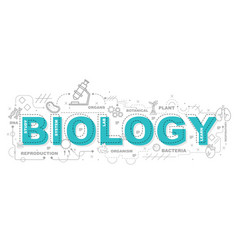 Creative of biology with line icon vector