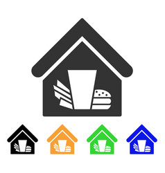 Fastfood cafe icon vector