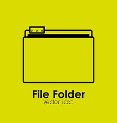 file folder vector image