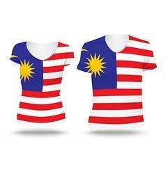 Flag shirt design of malaysia vector