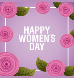 happy womens day floral decoration vector image
