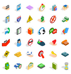 Helpdesk icons set isometric style vector