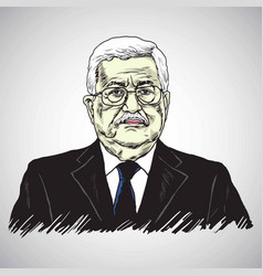 mahmoud abbas president of palestine vector image vector image