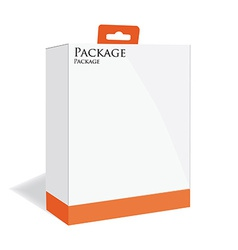 Orange software package vector
