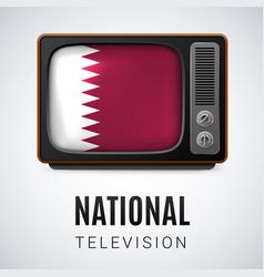 Round glossy icon of qatar vector