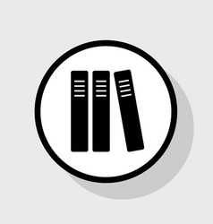 Row of binders office folders icon flat vector