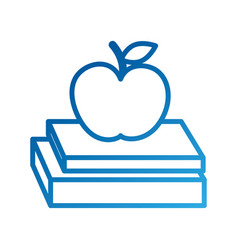 school books and apple study learn concept vector image