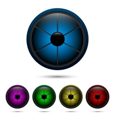 Segmented buttons vector image vector image