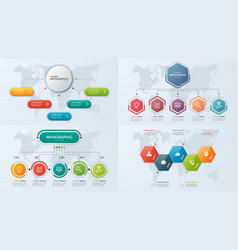 set of presentation business infographic templates vector image vector image