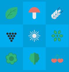 Set of simple garden icons vector