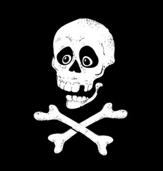 skull with bones sign vector image