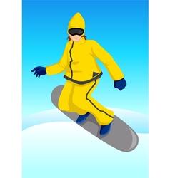 Snow boarder vector
