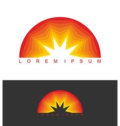 Sunrise logo dawn emblem business template logo vector