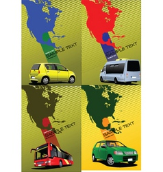 transport poster vector image vector image
