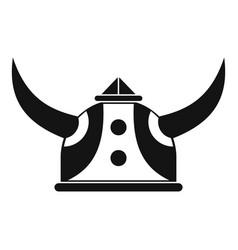 viking helmet icon simple style vector image