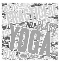 Yoga Your Way to Physical and Mental Fitness text vector image