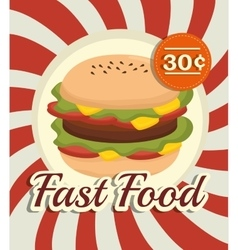 Cartoon fast food design design vector