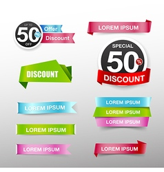 038 collection of colorful web tag banner vector