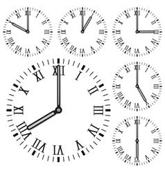 Clock face Roman numerals vector image