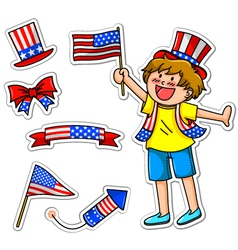 american kid small vector image
