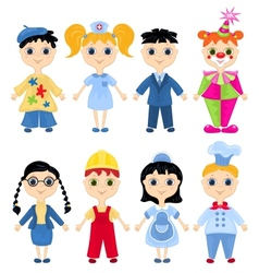 Set of profession cartoon characters vector