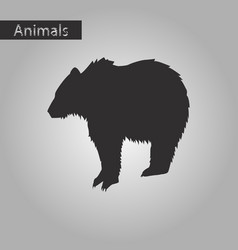 black and white style icon of bear vector image
