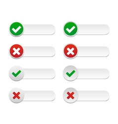 Validation labels vector image