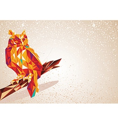 Colorful owl bird vector