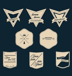 Vintage logo set vector